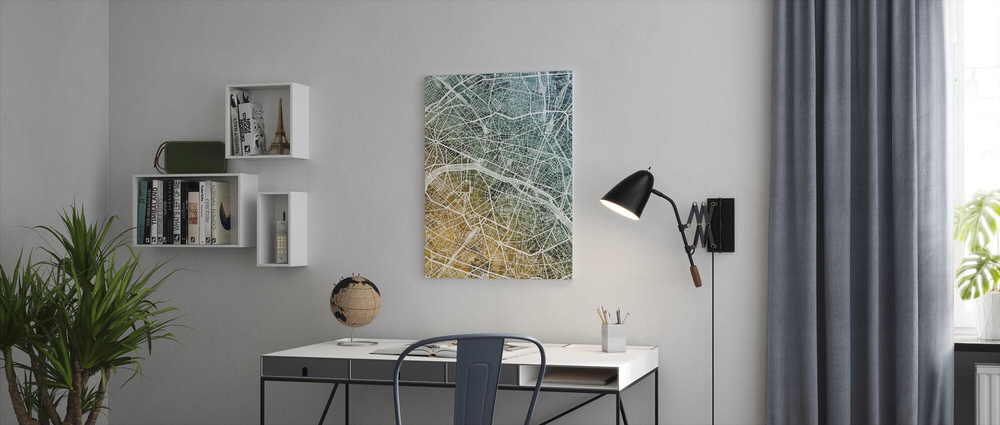 Paris France City Map - Canvas print - Office