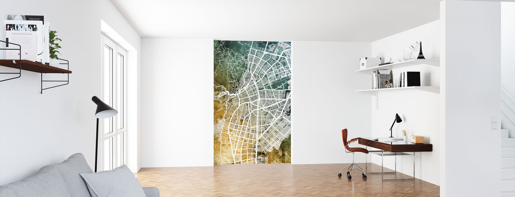Cali Colombia City Map - Wallpaper - Office