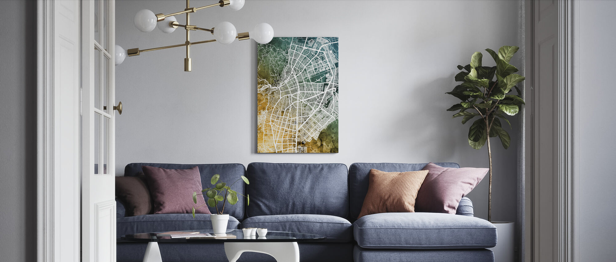 Cali Colombia City Map - Canvas print - Living Room