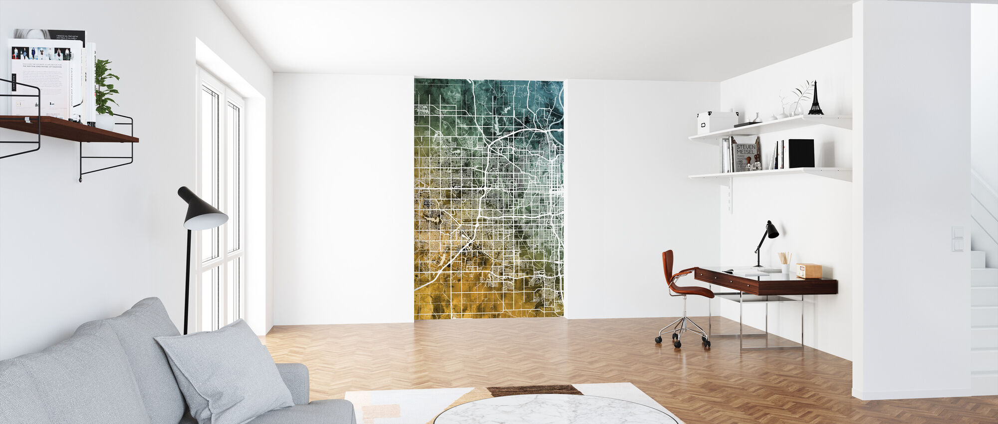 Omaha Nebraska City Map - Wallpaper - Office