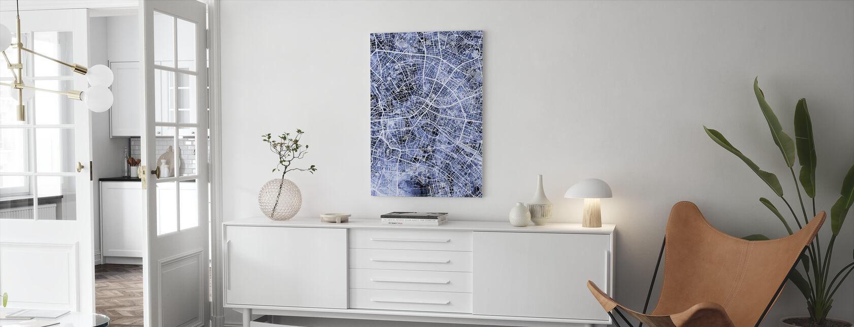 Berlin Germany City Map - Canvas print - Living Room
