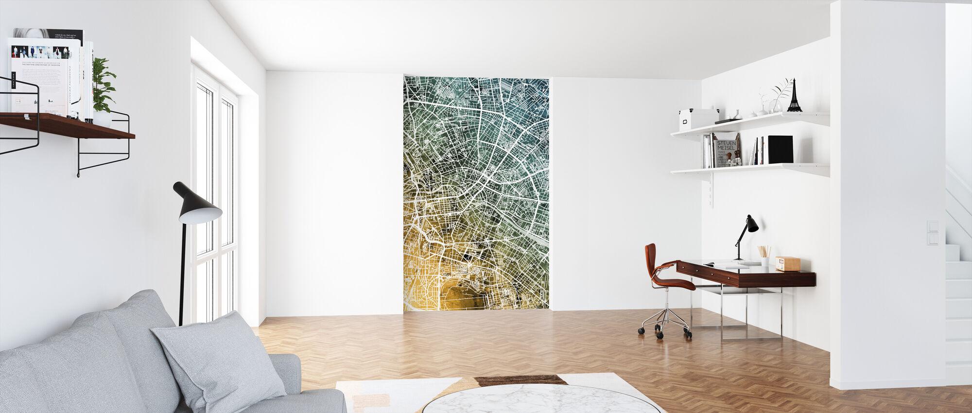 Berlin Tyskland City Karta - Tapet - Kontor