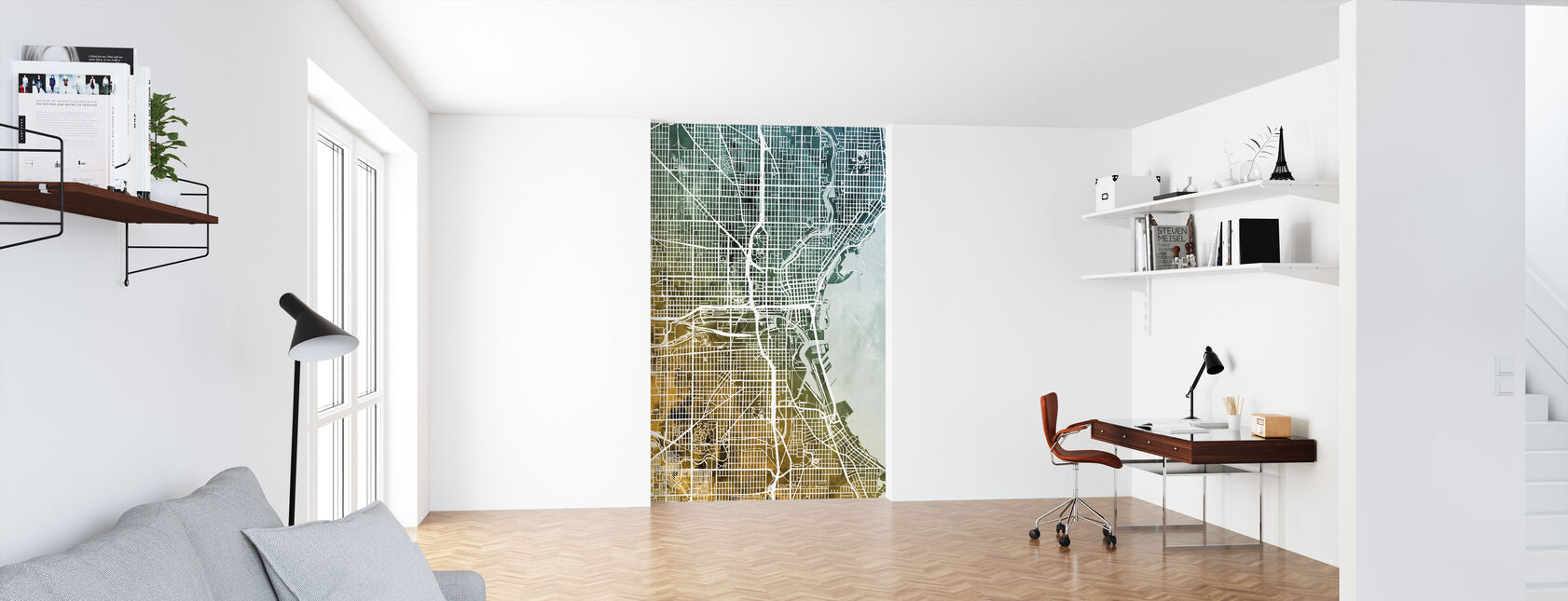 Milwaukee Wisconsin City Map - Wallpaper - Office