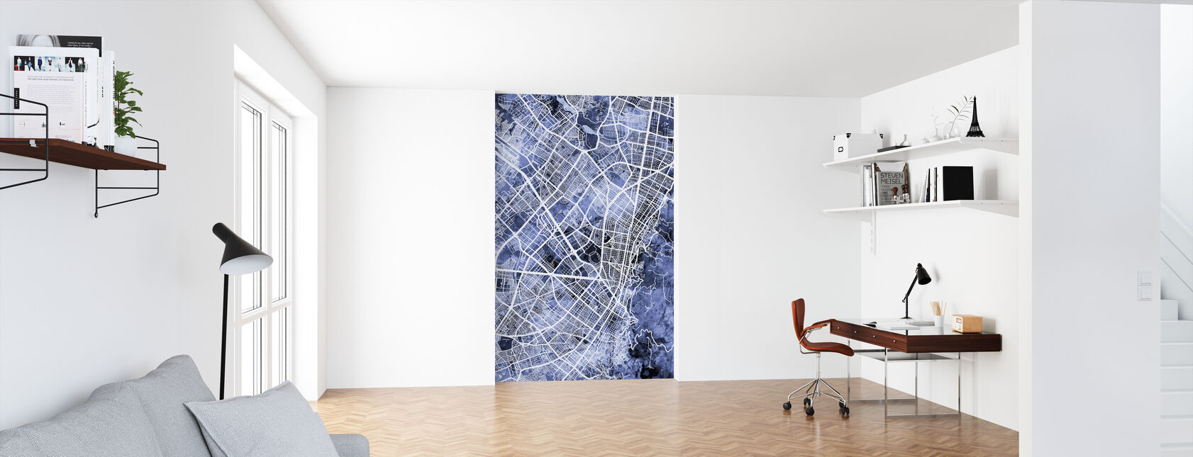 Bogota Colombia City Map - Wallpaper - Office