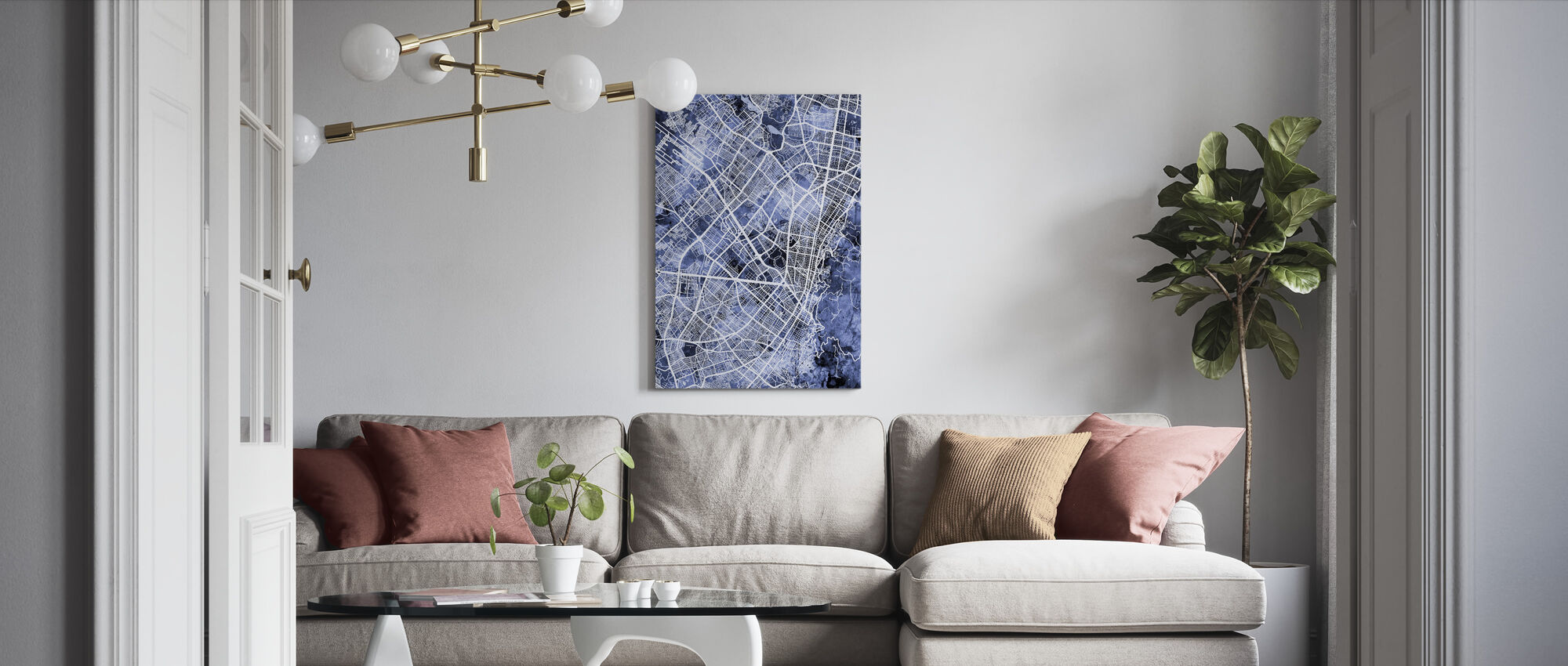 Bogota Colombia City Map - Canvas print - Living Room