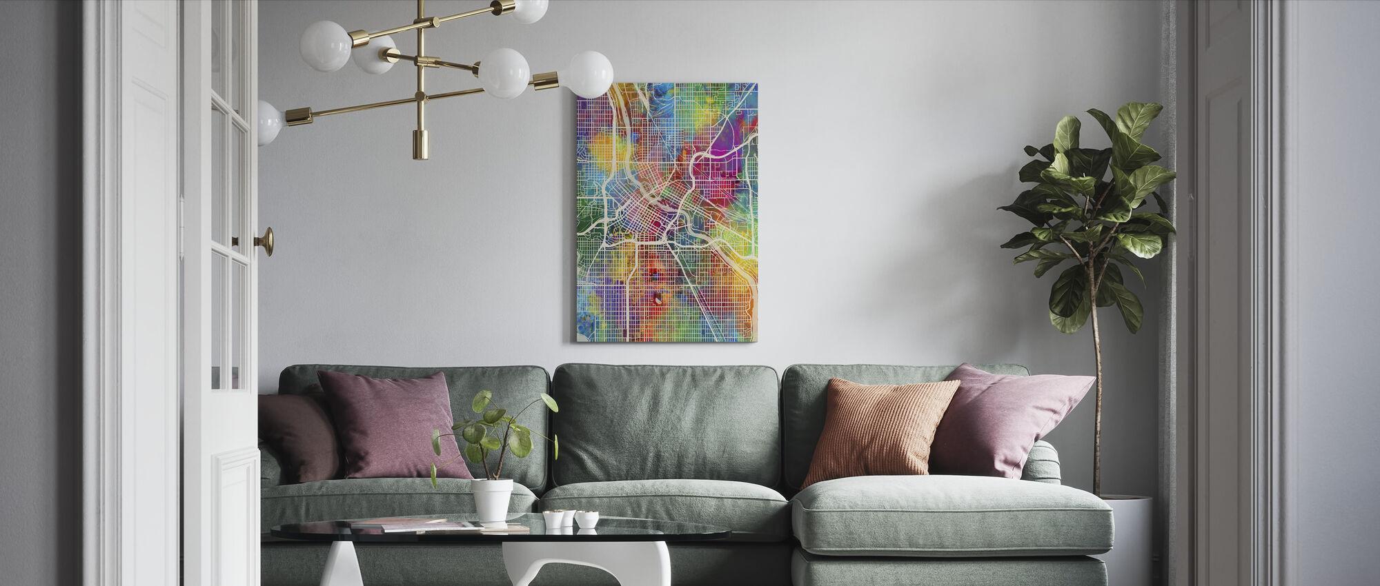 Minneapolis Minnesota City Map - Canvas print - Living Room