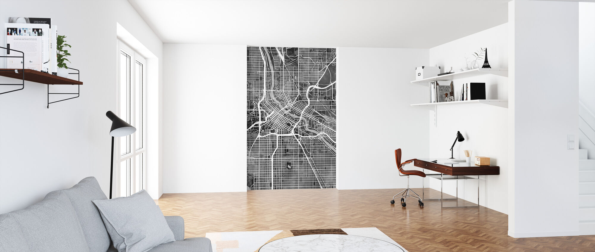 Minneapolis Minnesota City Map - Wallpaper - Office