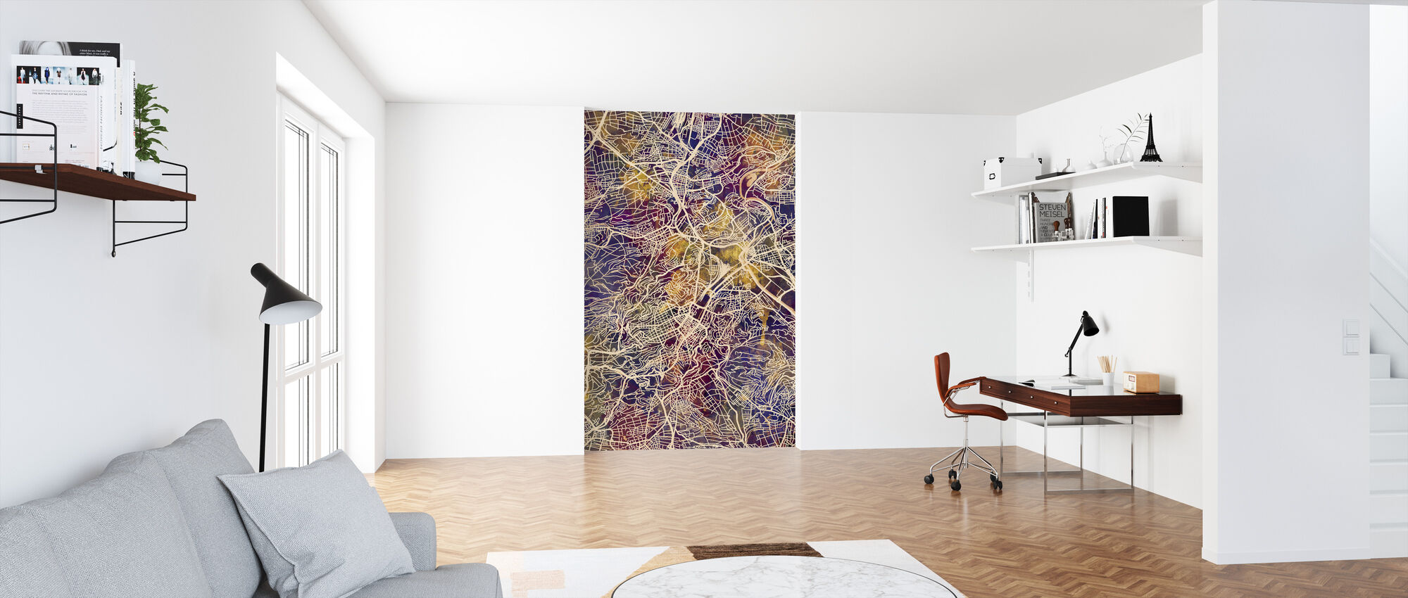 Stuttgart Germany City Map - Wallpaper - Office