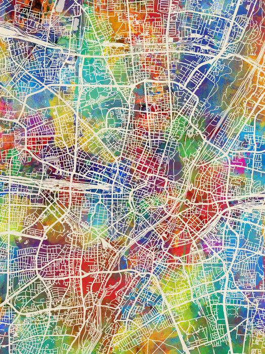 Munich Germany City Map Edullinen Canvastaulu Verkosta Photowall