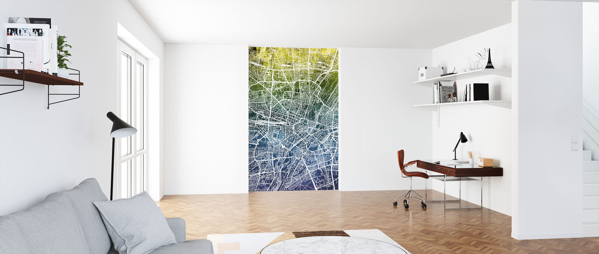 Munich Germany City Map - Wallpaper - Office