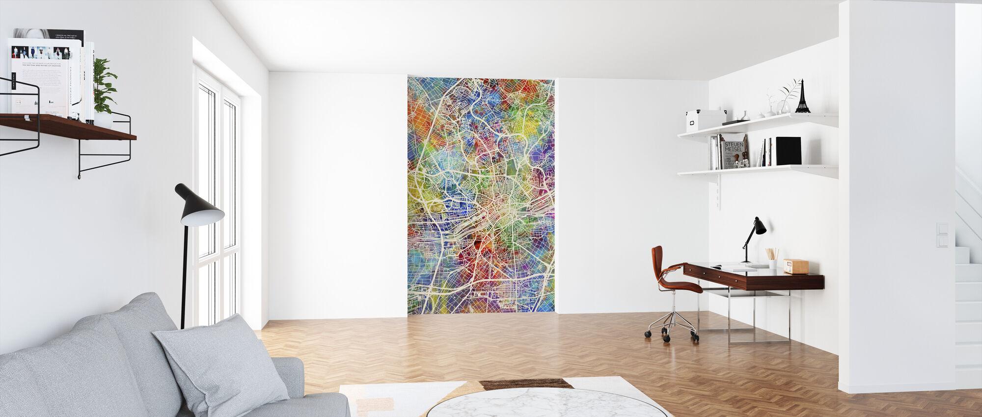 Frankfurt Germany City Map - Wallpaper - Office