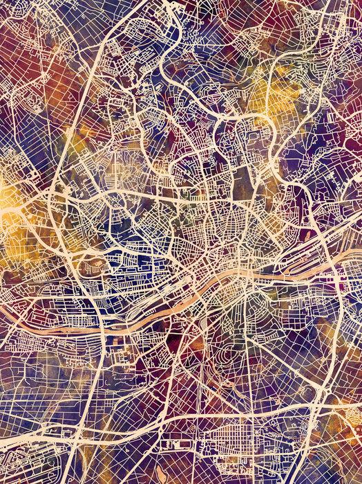 Frankfurt Germany City Map – Kostenlos gelieferte Fototapete von ...