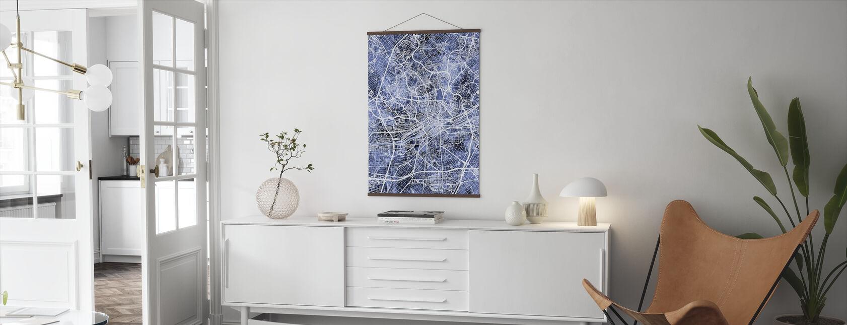 Frankfurt Germany City Map - Poster - Living Room