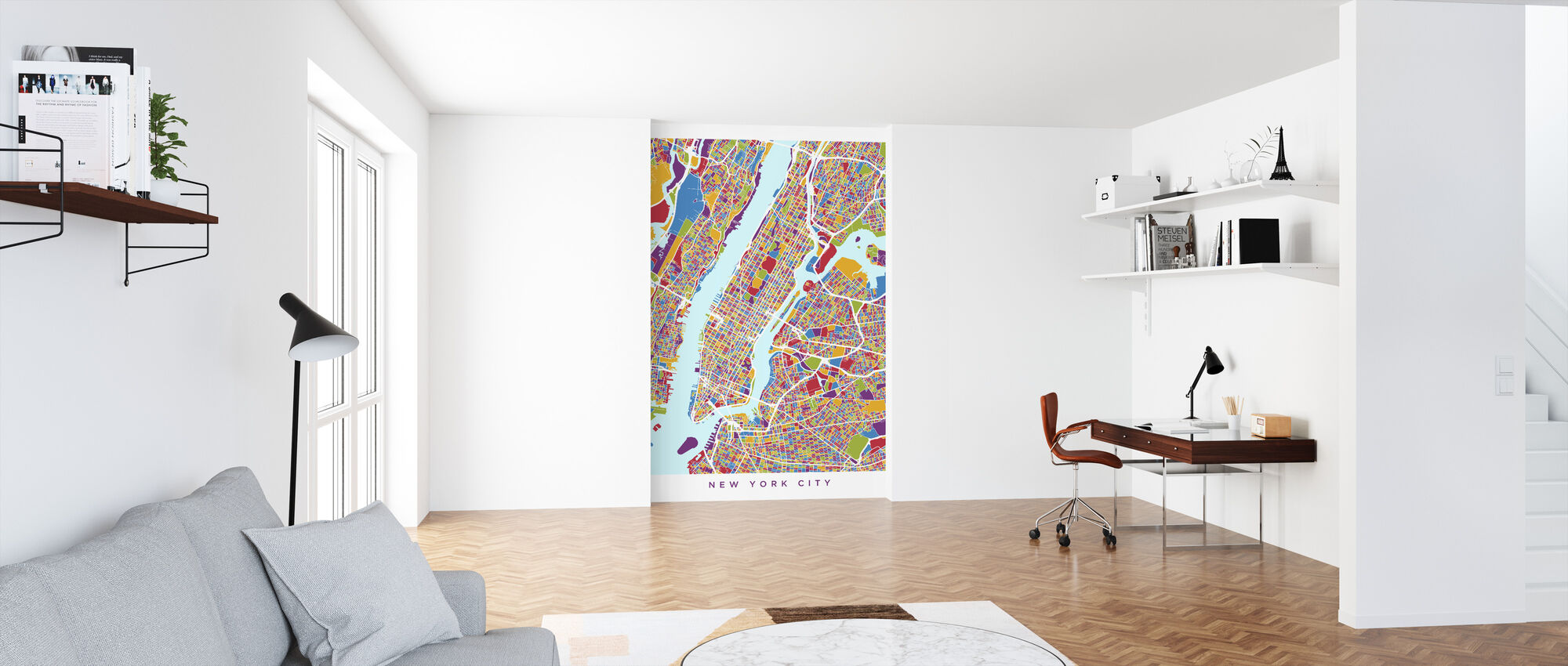 New York City Street Kaart - Behang - Kantoor