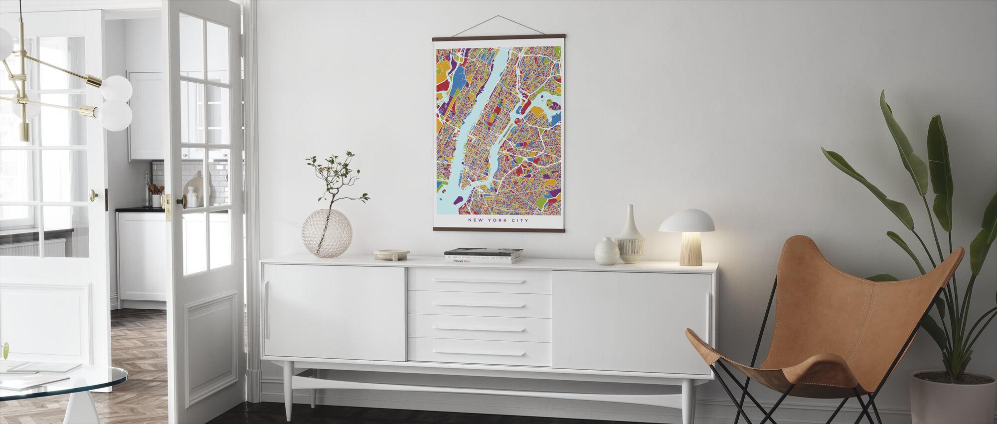 New York City Street Map - Poster - Living Room