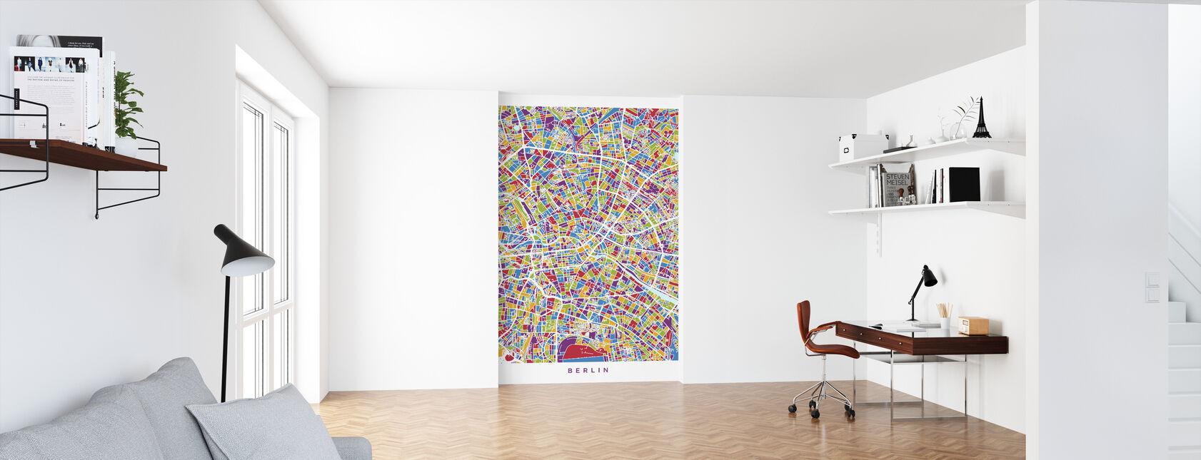 Berlin Germany City Map - Wallpaper - Office