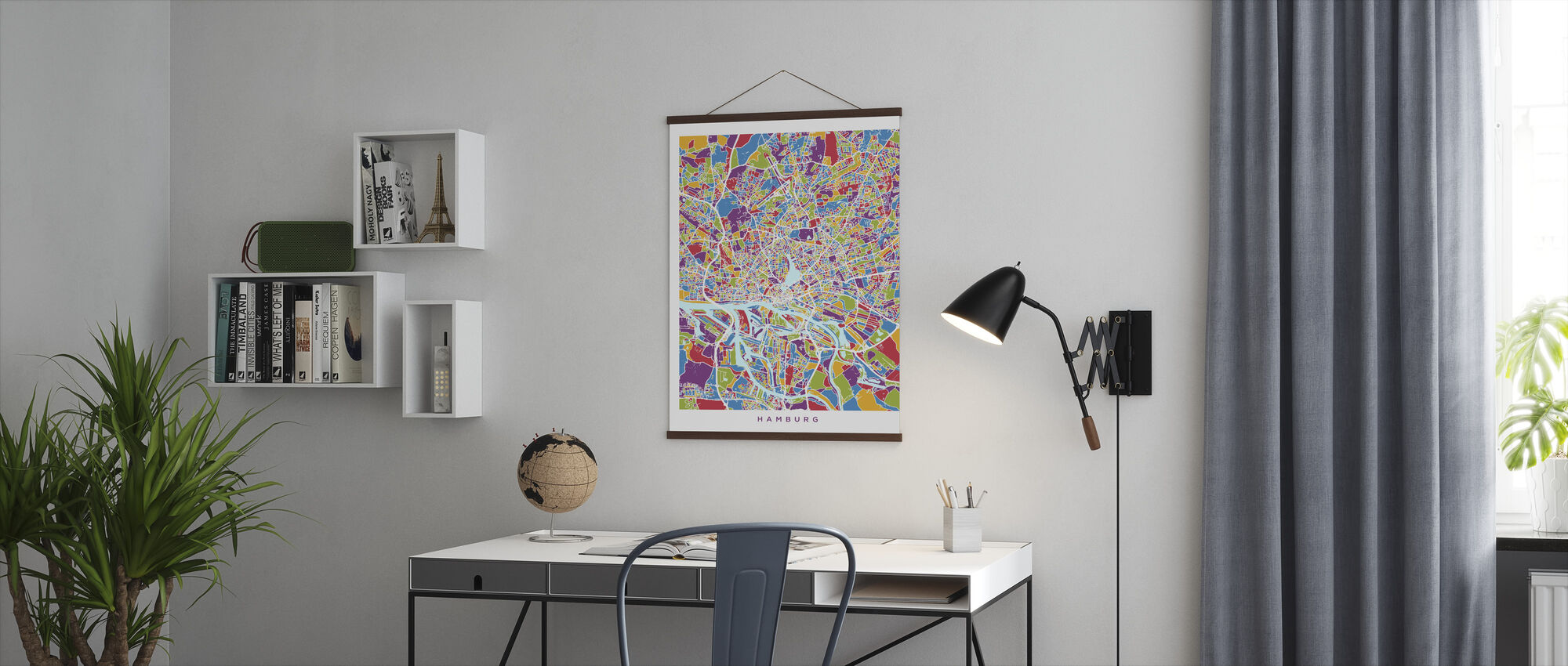 Hamburg Duitsland City Kaart - Poster - Kantoor