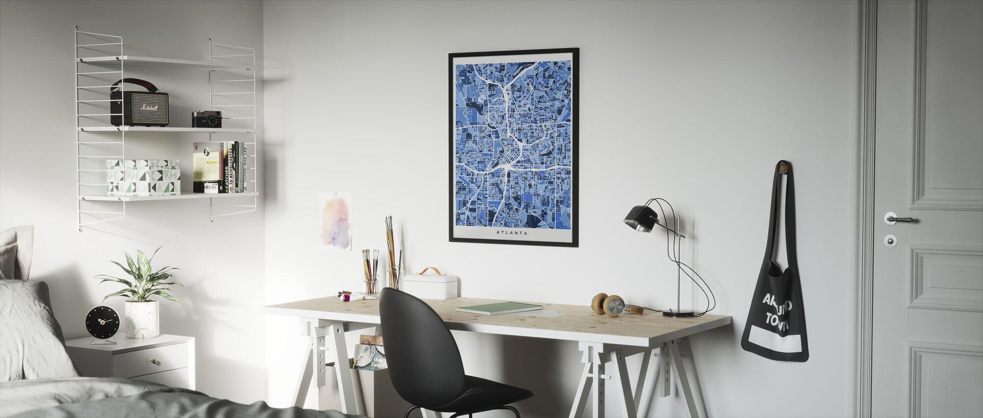 Atlanta Georgia City Map - Framed print - Kids Room