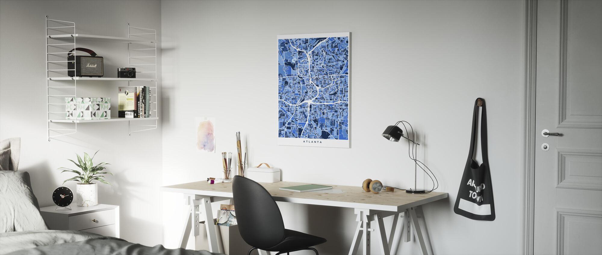 Atlanta Georgia City Map - Canvas print - Kids Room