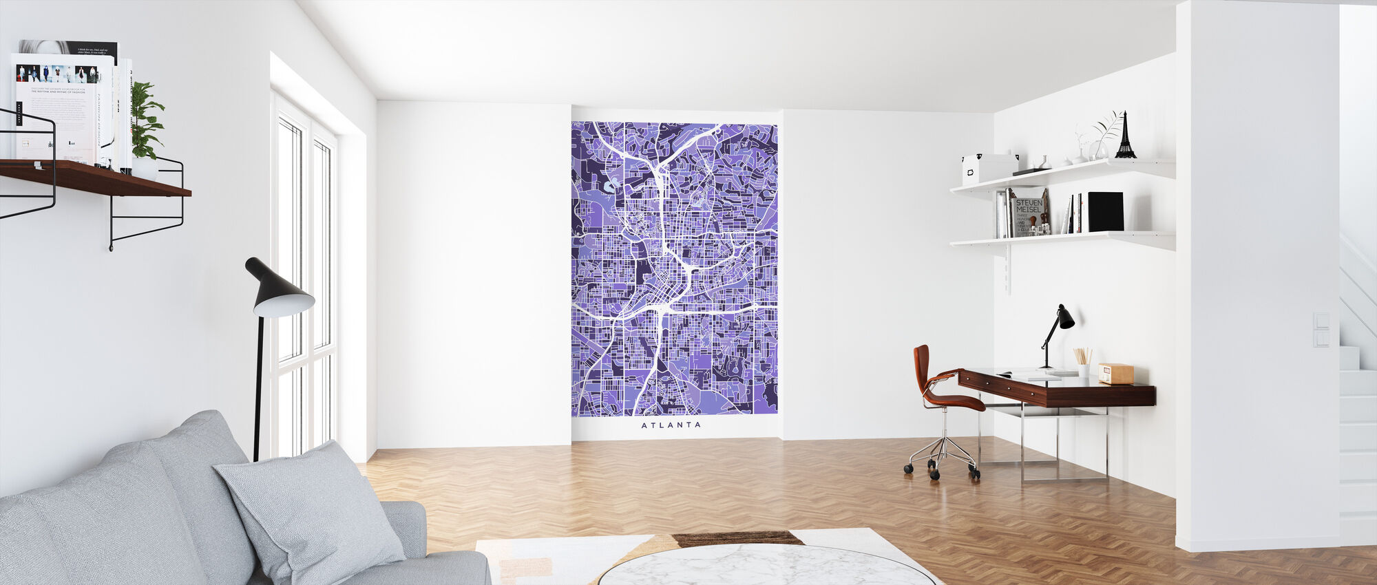 Atlanta Georgia City Map - Wallpaper - Office