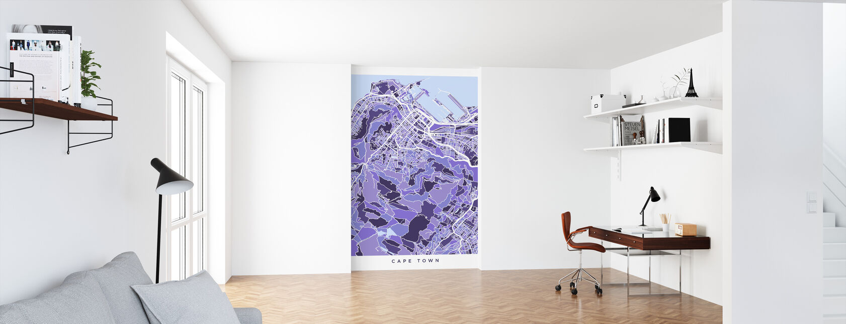 Cape Town South Africa City Street Map - Wallpaper - Office