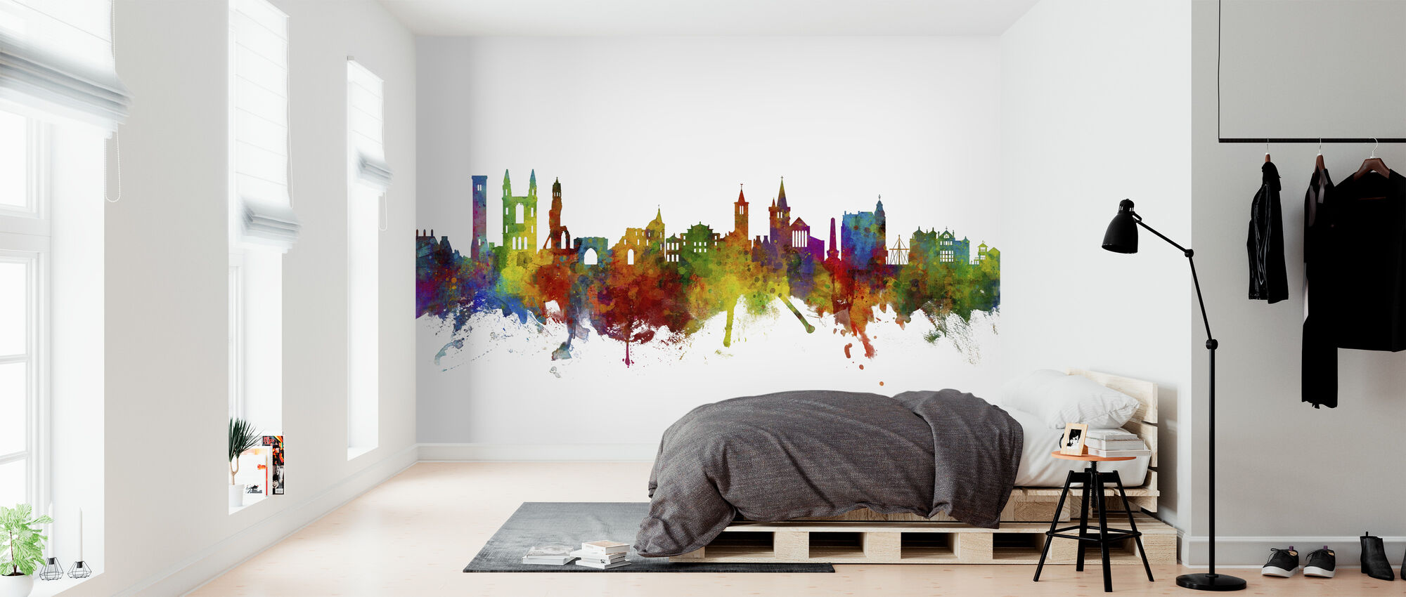 St Andrews Scotland Skyline - Wallpaper - Bedroom