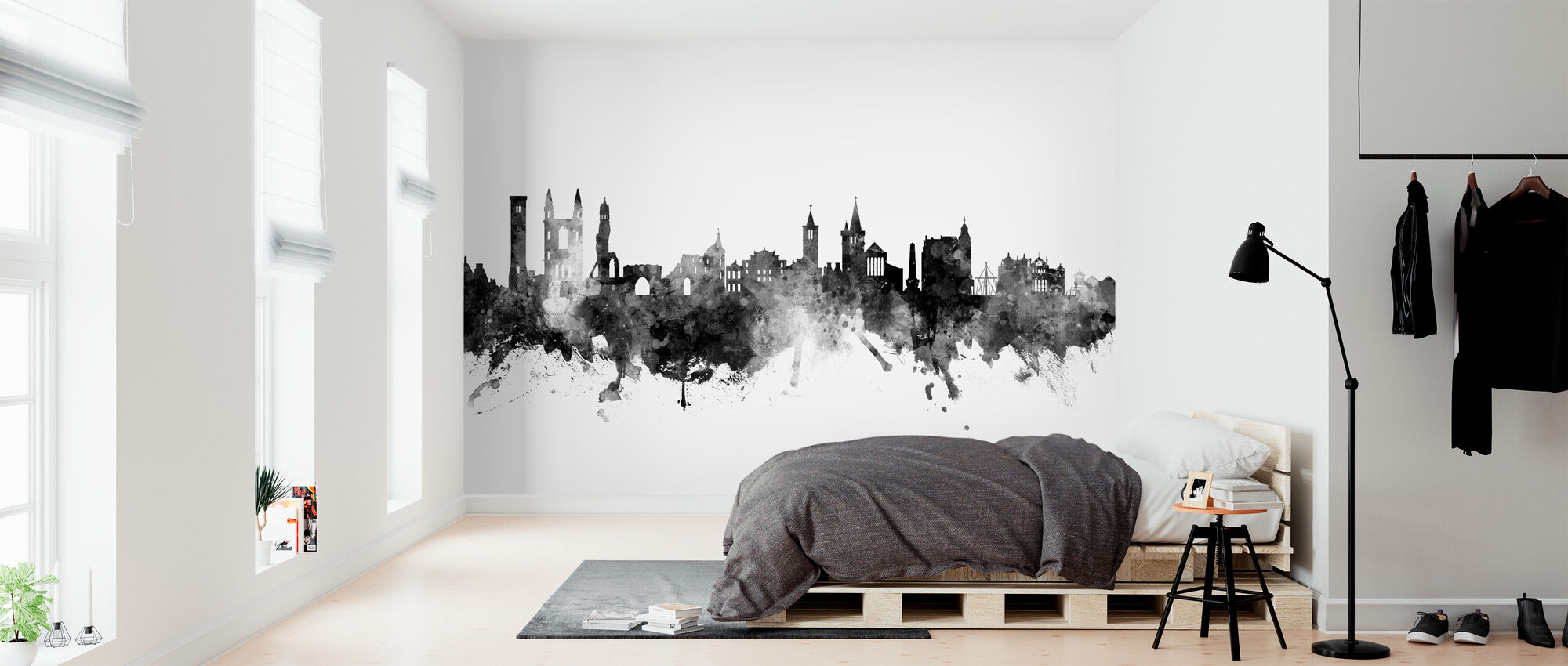 St Andrews Scotland Skyline - Behang - Slaapkamer