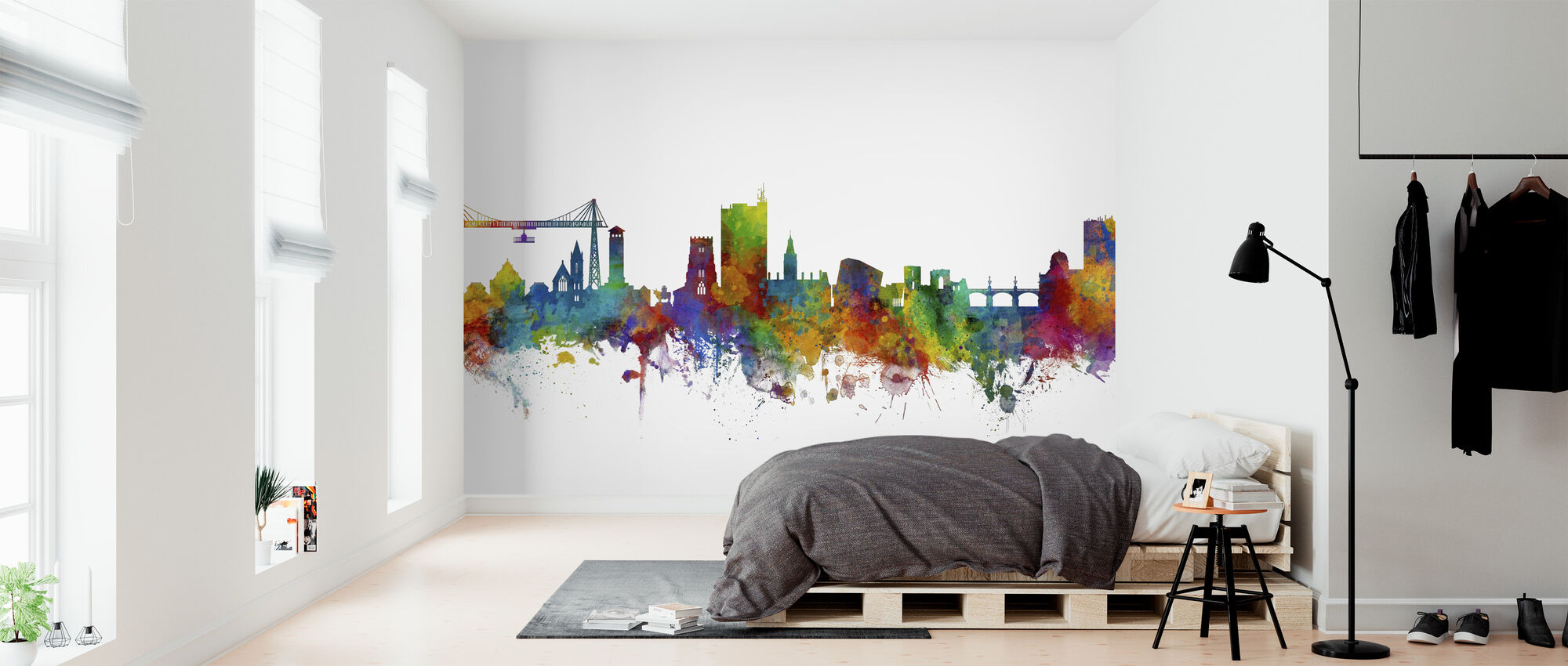 Newport Wales Skyline - Wallpaper - Bedroom
