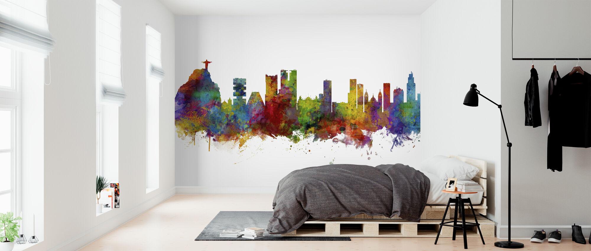Rio de Janeiro Skyline Brazil - Wallpaper - Bedroom