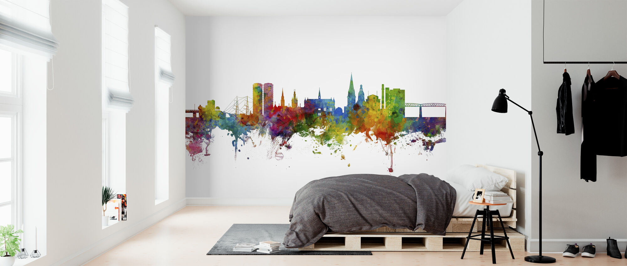 Dundee Scotland Skyline - Wallpaper - Bedroom