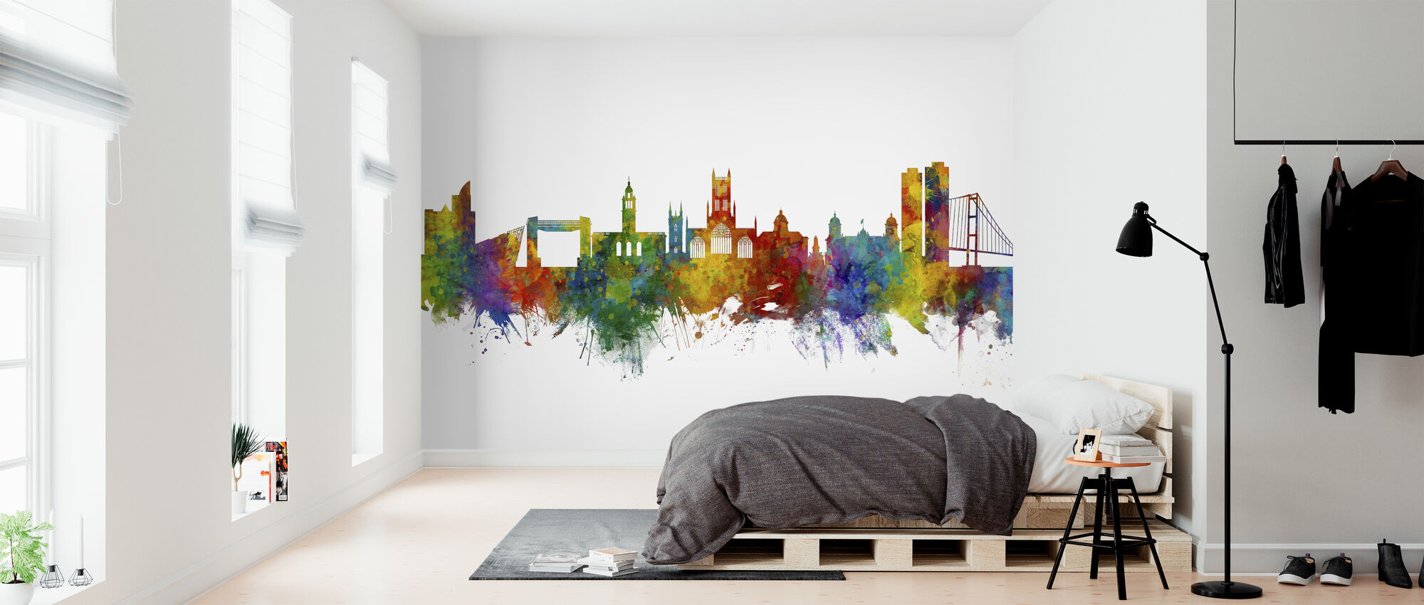 Kingston upon Hull England Skyline - Wallpaper - Bedroom