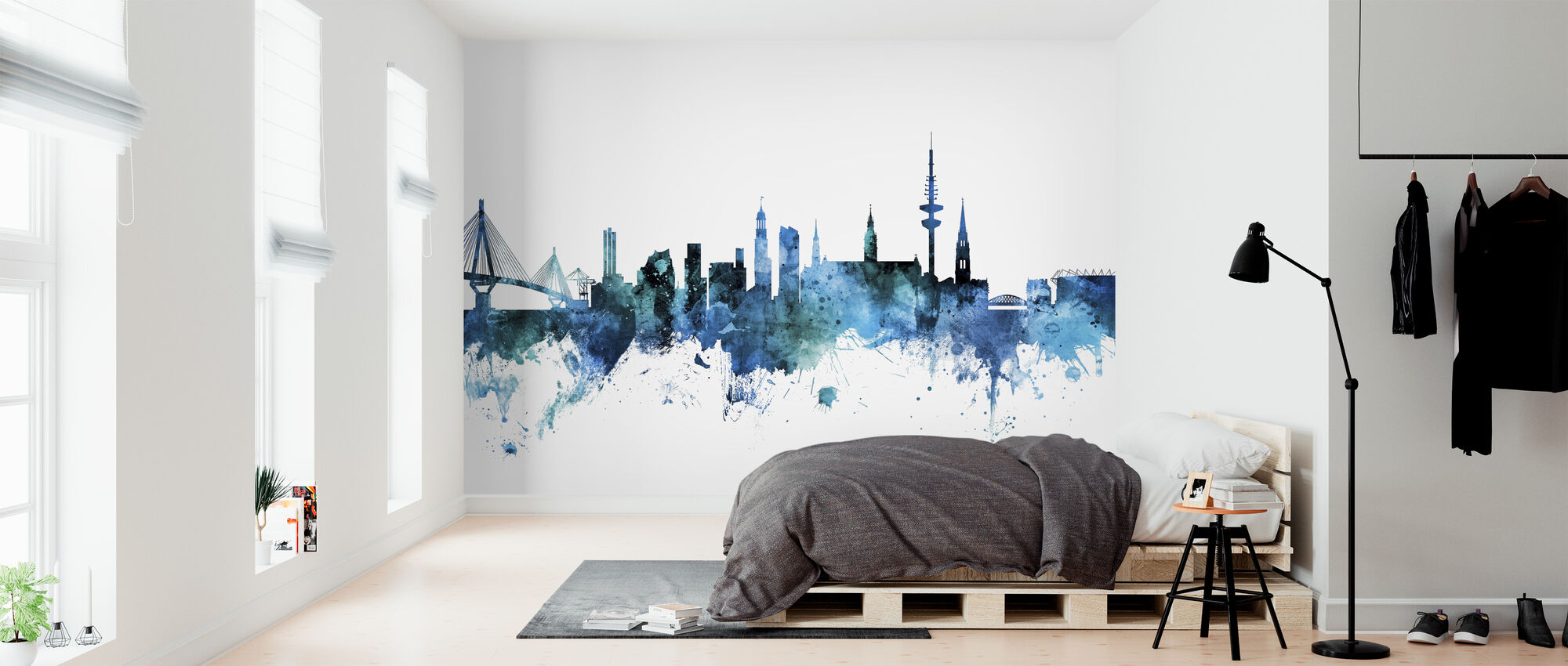 Hamburg Germany Skyline - Wallpaper - Bedroom