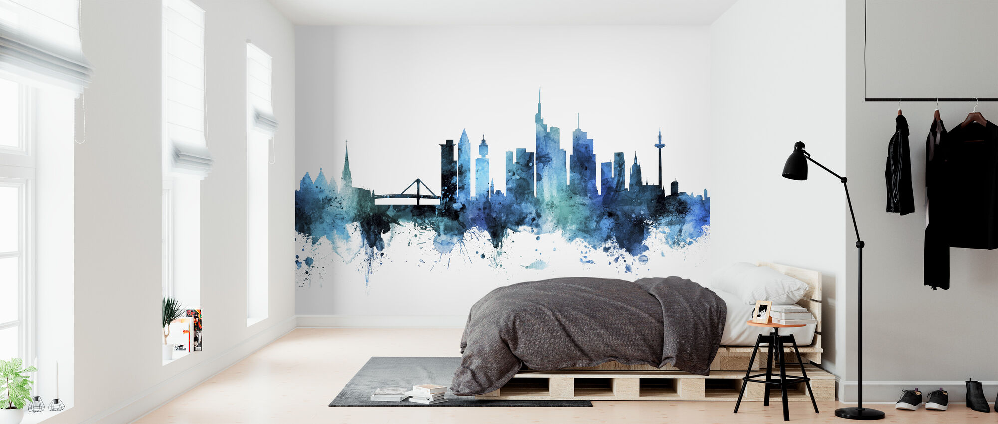 Frankfurt Germany Skyline - Wallpaper - Bedroom