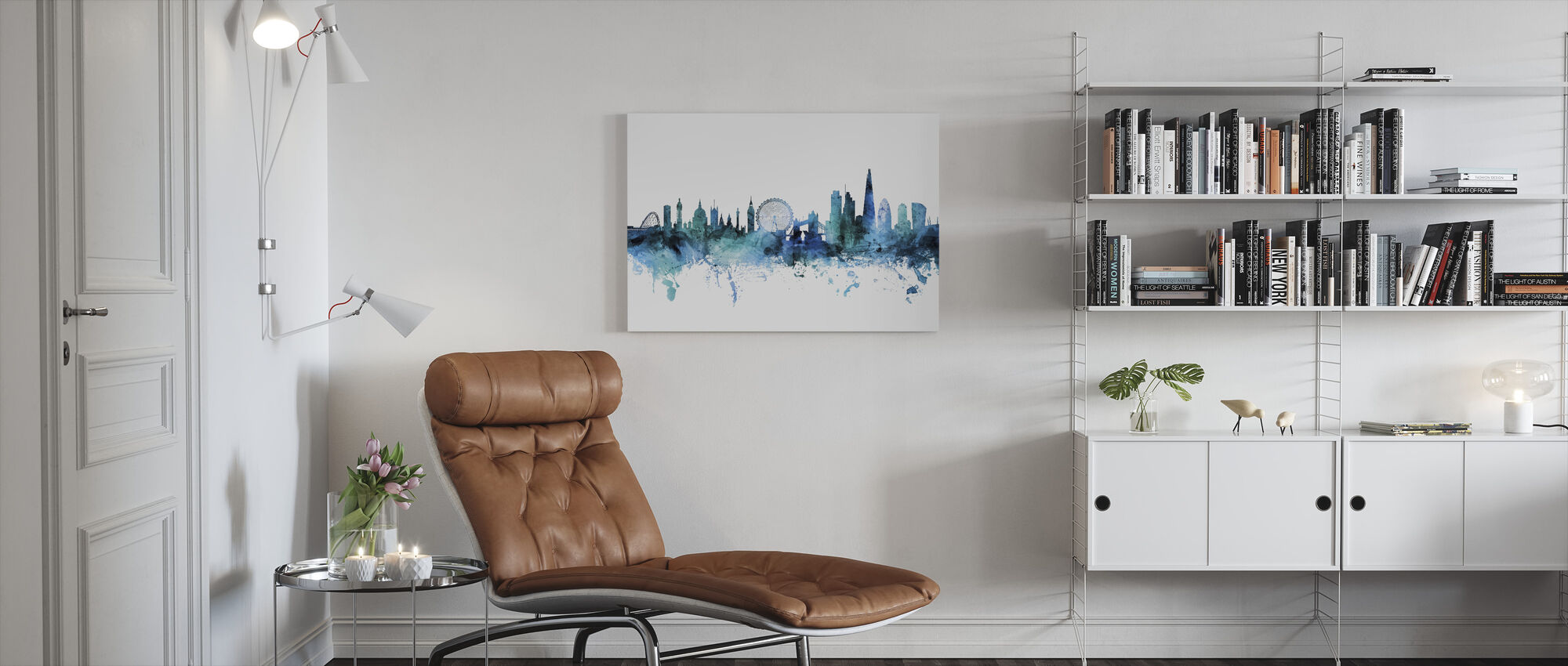 London England Skyline - Canvas print - Living Room