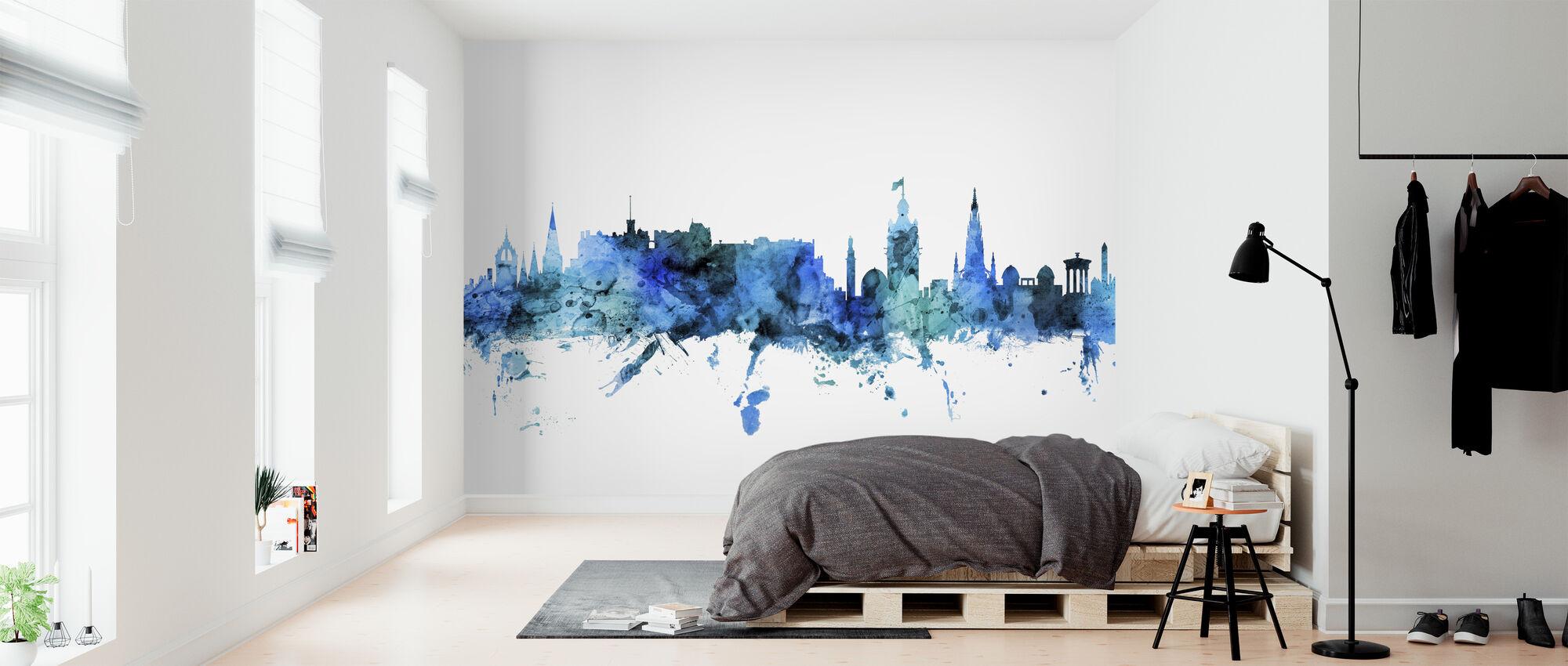 Edinburgh Scotland Skyline - Wallpaper - Bedroom
