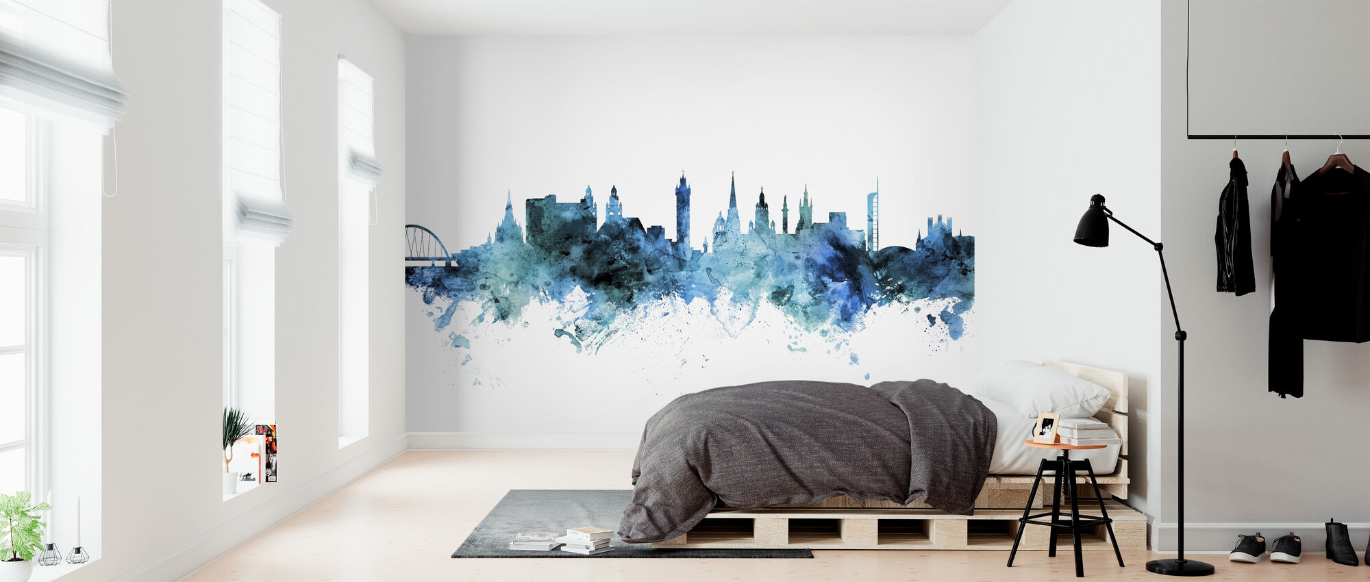 Glasgow Scotland Skyline - Wallpaper - Bedroom
