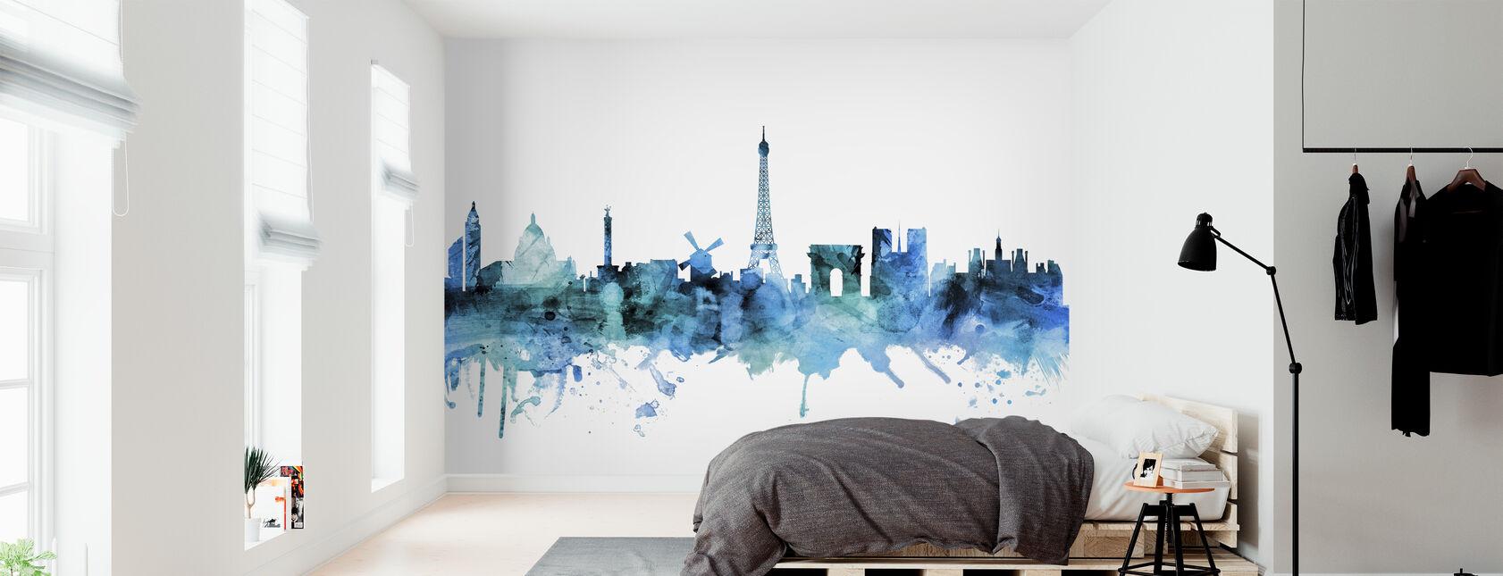 Paris France Skyline - Wallpaper - Bedroom