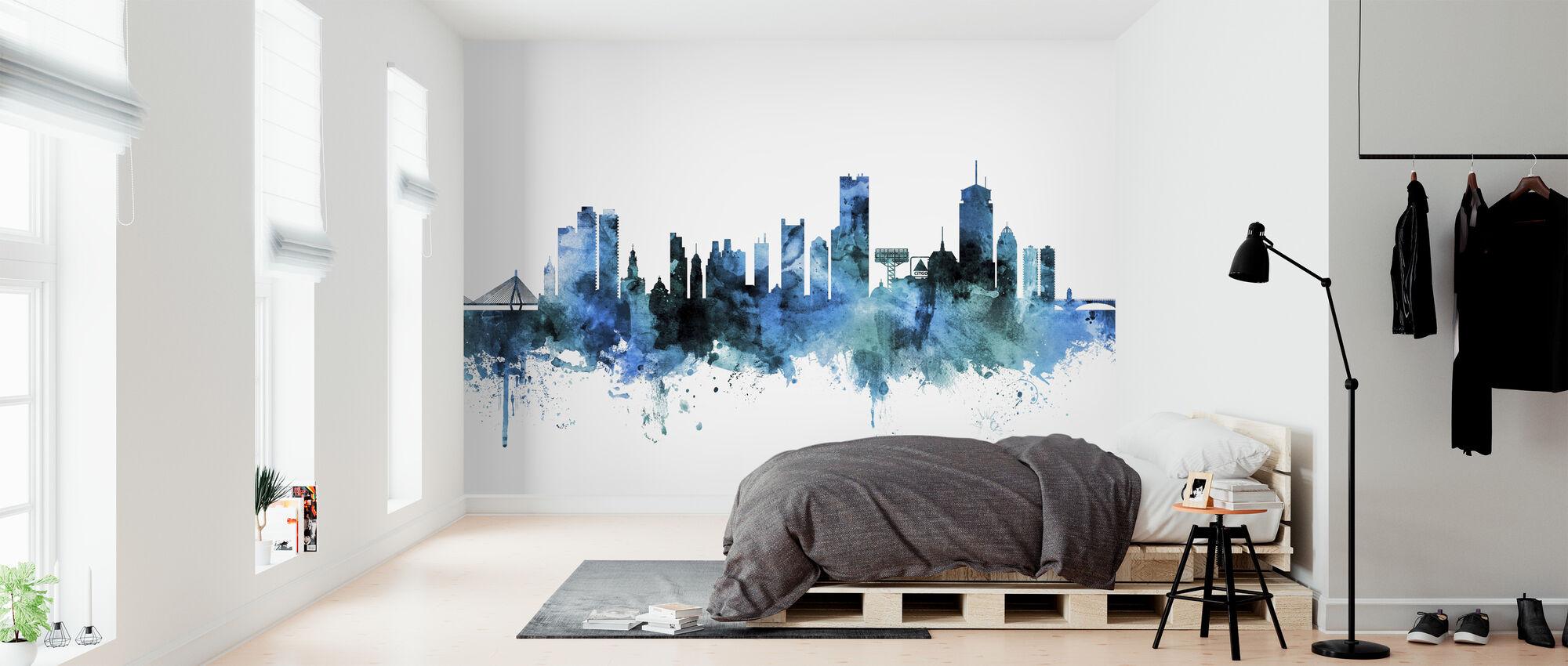 Boston Massachusetts Skyline - Wallpaper - Bedroom