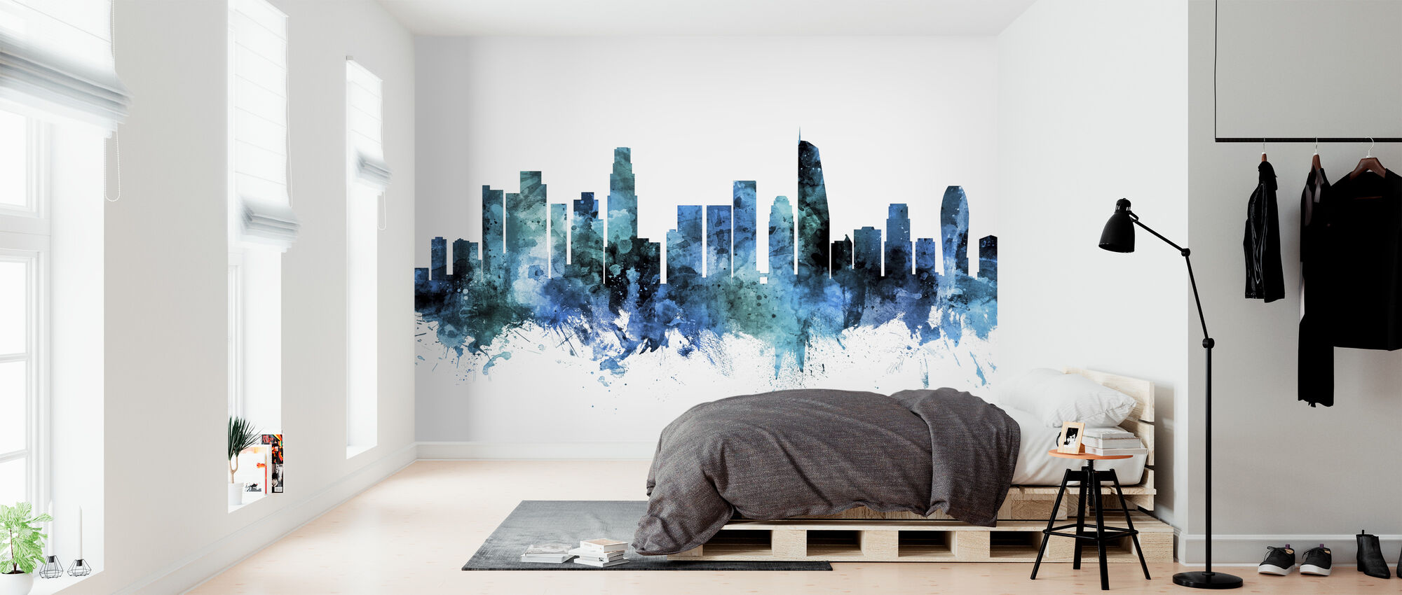 Los Angeles California Skyline - Wallpaper - Bedroom