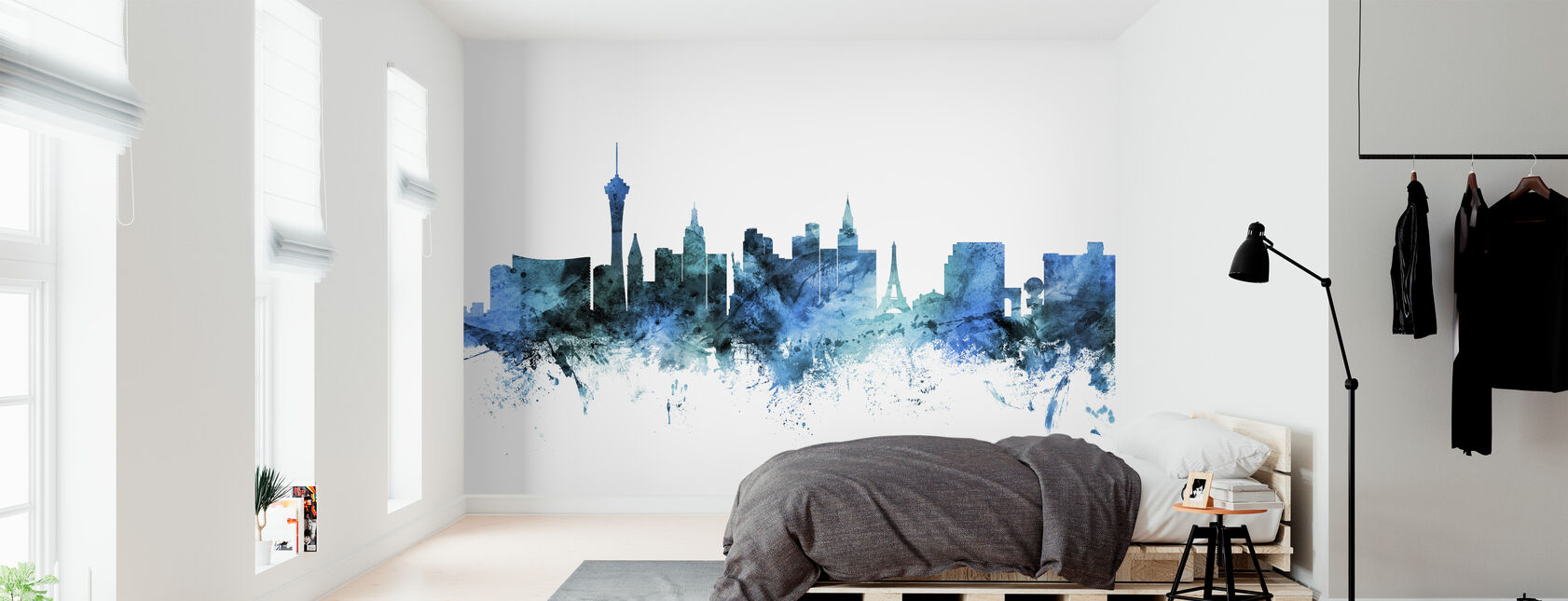 Las Vegas Nevada Skyline - Wallpaper - Bedroom