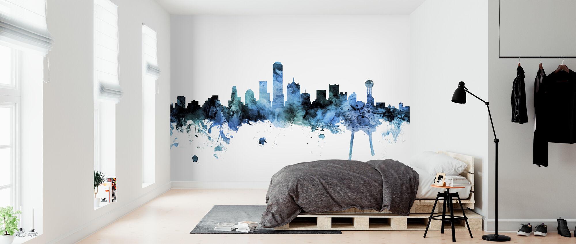 Dallas Texas Skyline - Wallpaper - Bedroom