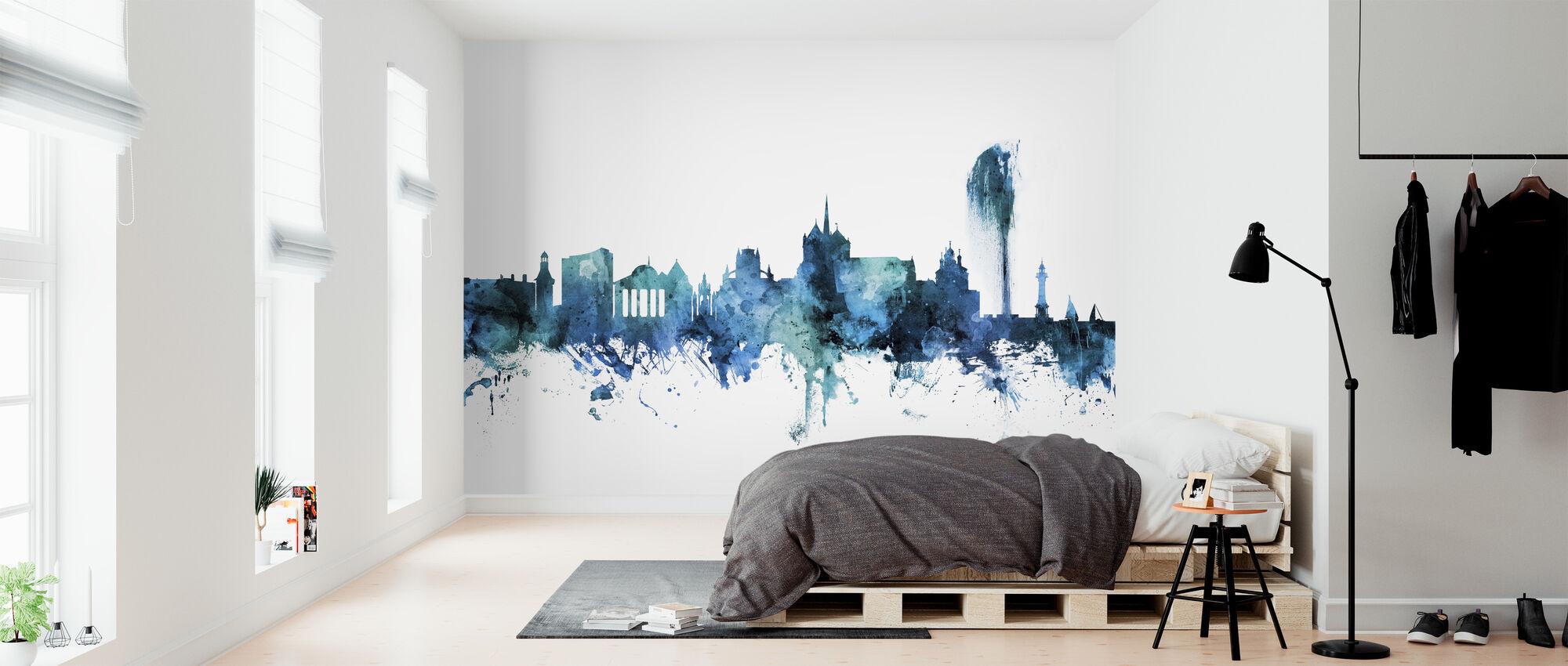 Geneva Switzerland Skyline - Wallpaper - Bedroom