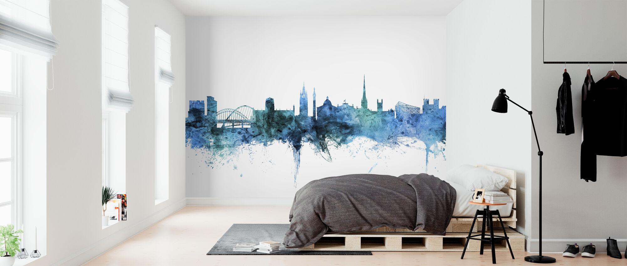 Newcastle England Skyline - Wallpaper - Bedroom