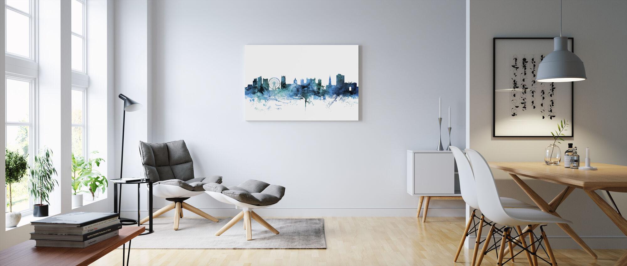 Nottingham Anglia Skyline - Obraz na płótnie - Pokój dzienny