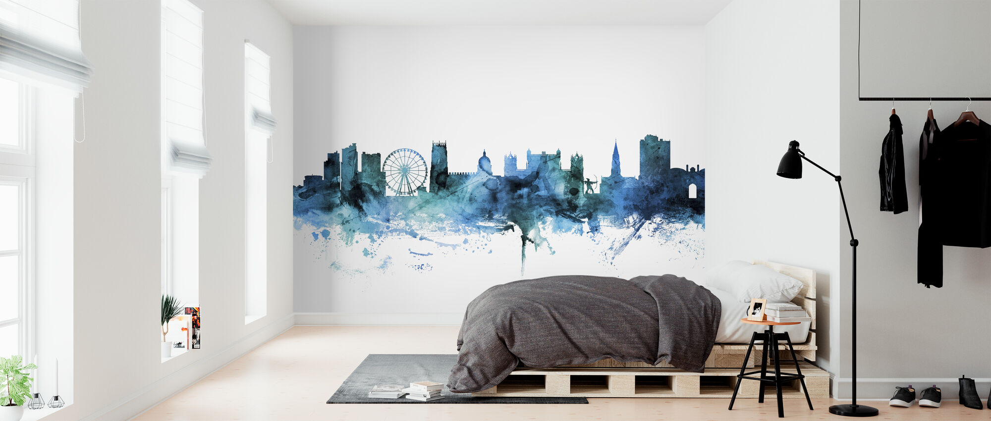 Nottingham England Skyline - Wallpaper - Bedroom