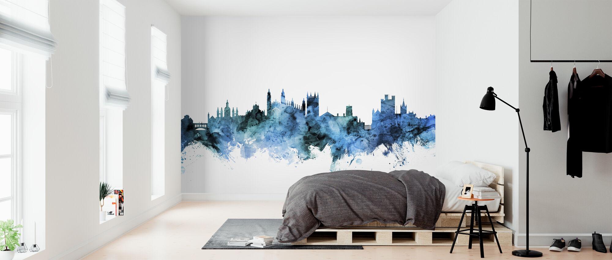 Cambridge England Skyline - Wallpaper - Bedroom