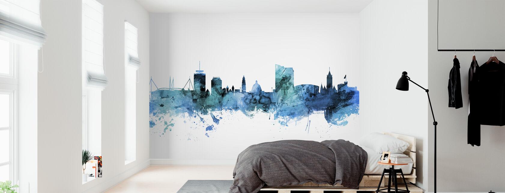 Cardiff Wales Skyline - Wallpaper - Bedroom