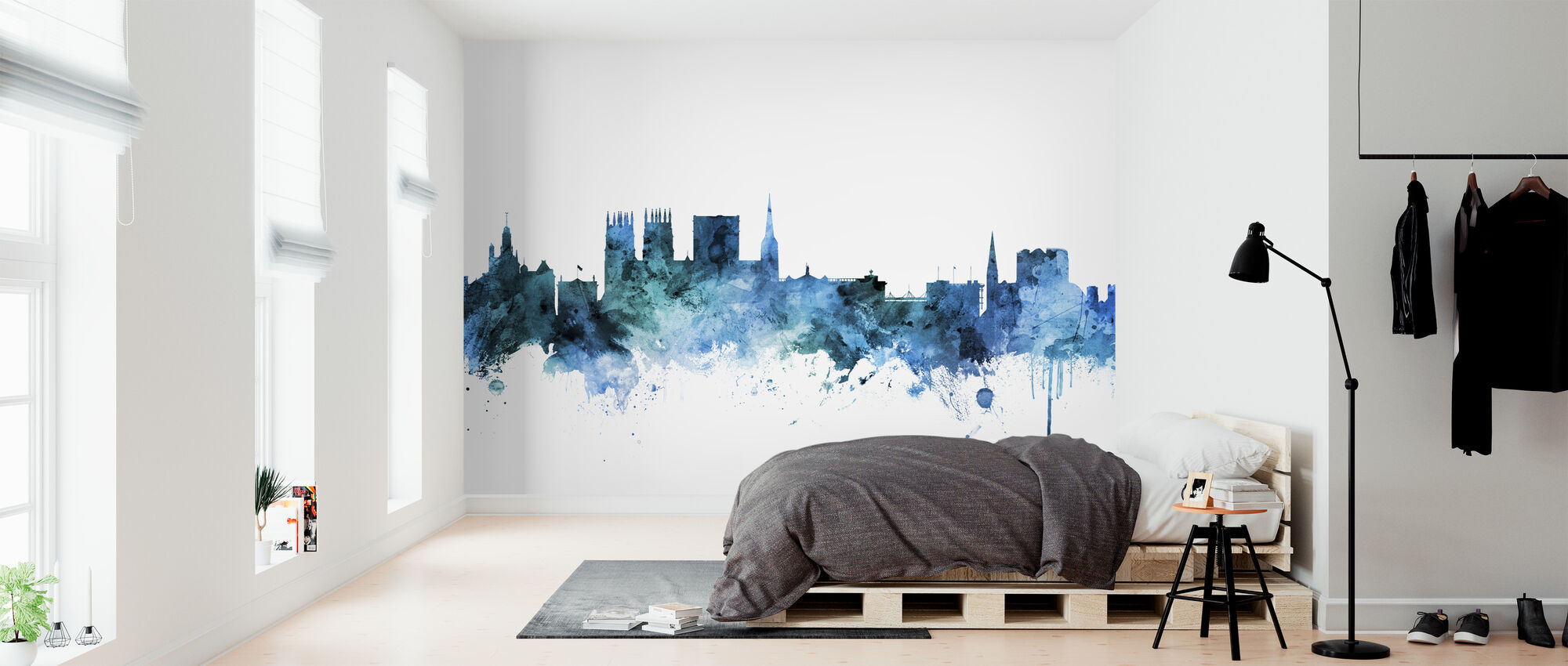 York England Skyline - Behang - Slaapkamer