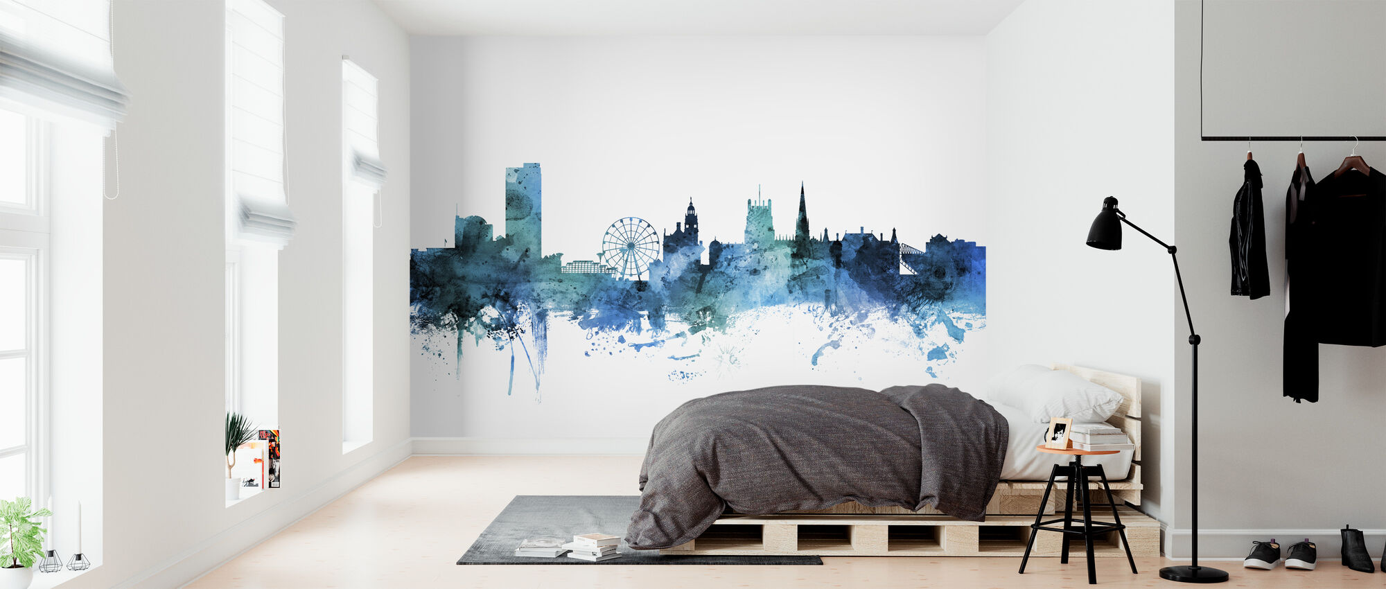 Sheffield England Skyline - Wallpaper - Bedroom