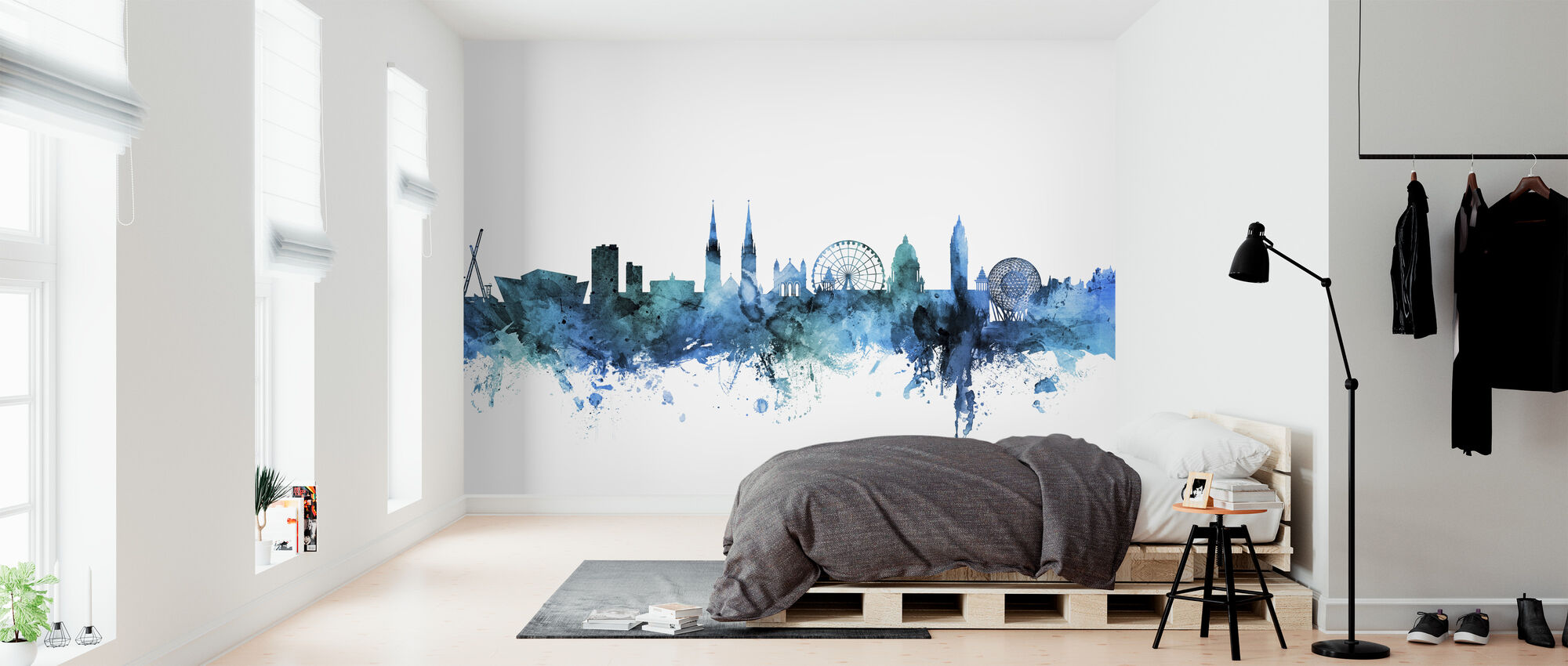 Belfast Northern Ireland Skyline - Wallpaper - Bedroom